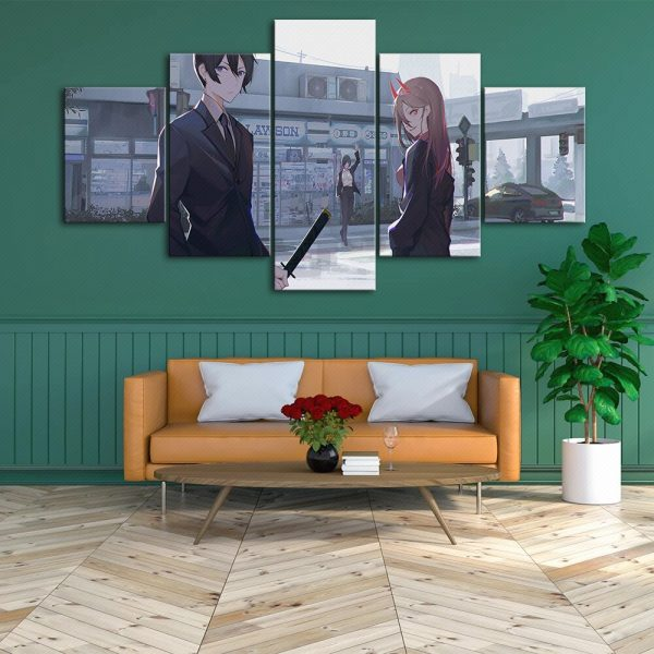Home Decoration Chainsaw Man Canvas Japan Prints Painting Anime Poster Wall Art Modular Picture For Bedside 3 - Chainsaw Man Shop