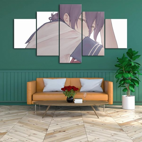 Home Decoration Chainsaw Man Canvas Japanese Prints Painting Anime Poster 5 Set Wall Art Modular Pictures 3 - Chainsaw Man Shop