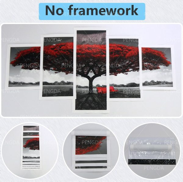 Home Decoration Chainsaw Man Canvas Japanese Prints Painting Anime Poster 5 Set Wall Art Modular Pictures 4 - Chainsaw Man Shop