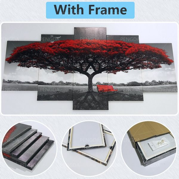 Home Decoration Chainsaw Man Canvas Japanese Prints Painting Anime Poster 5 Set Wall Art Modular Pictures 5 - Chainsaw Man Shop