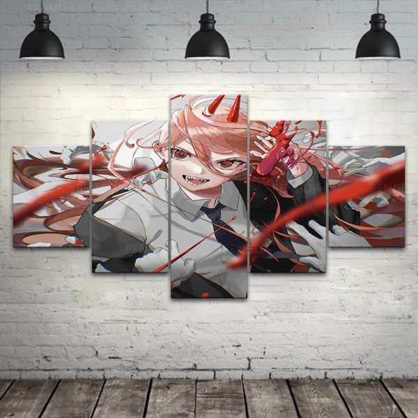 Japan Anime Home Decor Chainsaw Man Canvas Prints Painting Poster Wall Modern Art Modular Pictures For 1 - Chainsaw Man Shop