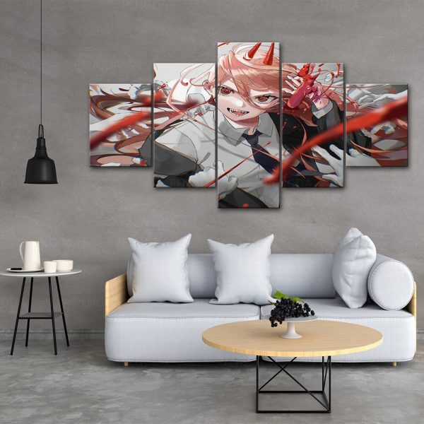Japan Anime Home Decor Chainsaw Man Canvas Prints Painting Poster Wall Modern Art Modular Pictures For 2 - Chainsaw Man Shop