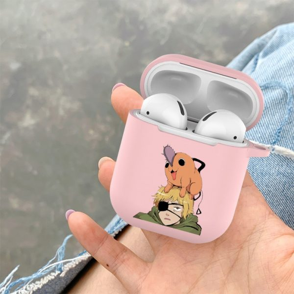 Japanese cartoon anime Chainsaw Man Candy Soft Tpu Case For Apple Airpods 1 2 Pro Bluetooth 1 - Chainsaw Man Shop
