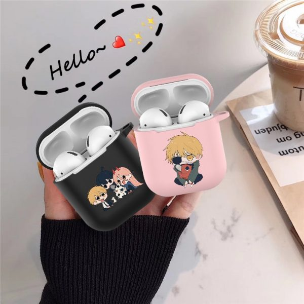 Japanese cartoon anime Chainsaw Man Candy Soft Tpu Case For Apple Airpods 1 2 Pro Bluetooth - Chainsaw Man Shop