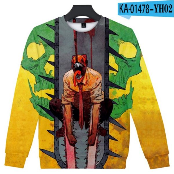 Manga Chainsaw man 3D Printed Sweatshirt Women Men Long Sleeve Sweatshirts Chainsawman Anime Autumn Winter Streetwear 2.jpg 640x640 2 - Chainsaw Man Shop