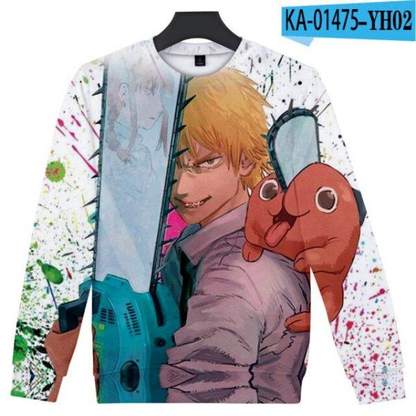 Manga Chainsaw man 3D Printed Sweatshirt Women Men Long Sleeve Sweatshirts Chainsawman Anime Autumn Winter Streetwear 4.jpg 640x640 4 - Chainsaw Man Shop
