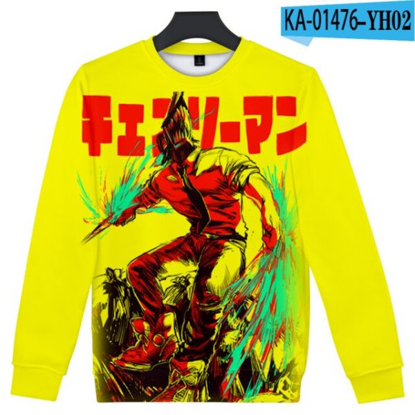 Manga Chainsaw man 3D Printed Sweatshirt Women Men Long Sleeve Sweatshirts Chainsawman Anime Autumn Winter Streetwear 5.jpg 640x640 5 - Chainsaw Man Shop