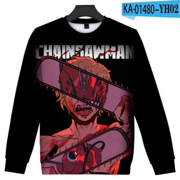 Manga Chainsaw man 3D Printed Sweatshirt Women Men Long Sleeve Sweatshirts Chainsawman Anime Autumn Winter - Chainsaw Man Shop