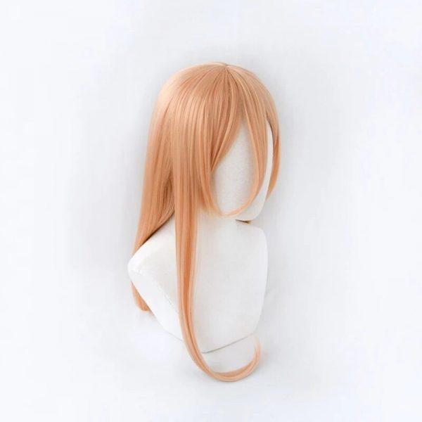 Power Cosplay Wig Anime Chainsaw Man Makima 70cm Long Orange Heat Resistant Fiber Hair Halloween Party 2 - Chainsaw Man Shop