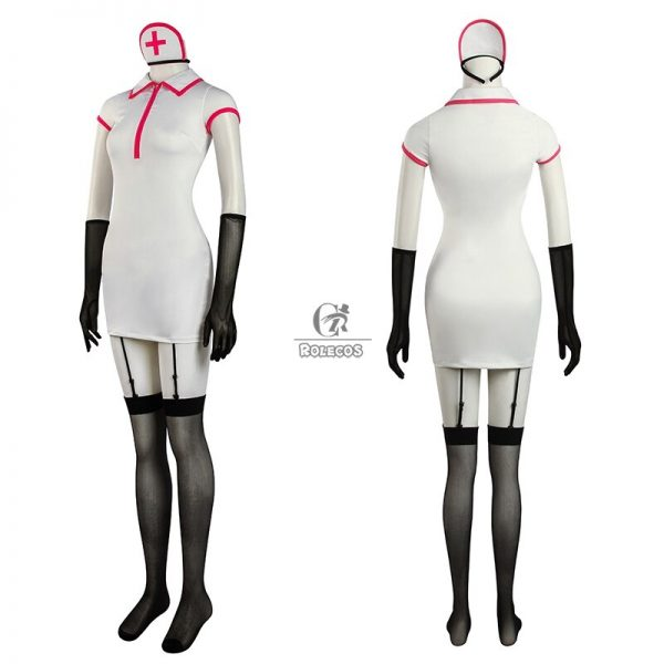 ROLECOS Chainsaw Man Makima Power Cosplay Costume Anime Nurse Uniform Outfit Halloween Cosplay Costume Carnival Clothing 2 - Chainsaw Man Shop
