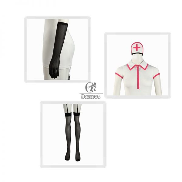 ROLECOS Chainsaw Man Makima Power Cosplay Costume Anime Nurse Uniform Outfit Halloween Cosplay Costume Carnival Clothing 3 - Chainsaw Man Shop