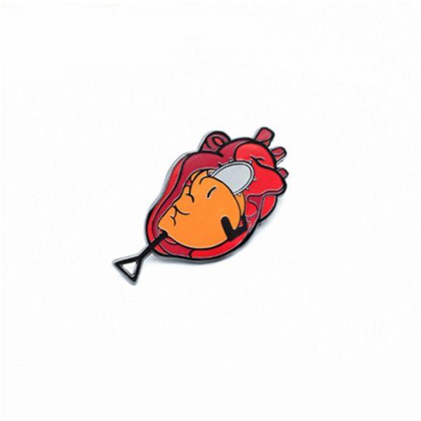 Takerlama 1PCS Chainsaw Man Pochita Cosplay Badge Metal Brooch Pins Bagpack Pin Anime Souvenir Toys 2 - Chainsaw Man Shop