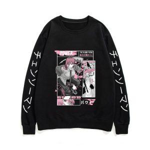 Unisex Kawaii Streetwear Men Women Fashion Sweatshirts Ayanami Rei Pullover Manga Chainsaw Man Sweatshirt with Print - Chainsaw Man Shop