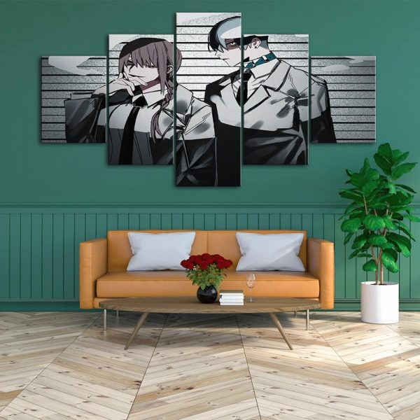 Wall Art Chainsaw Man Home Decor Japan Anime Hd Print Modular Picture Posters Modern Canvas Painting 3 - Chainsaw Man Shop