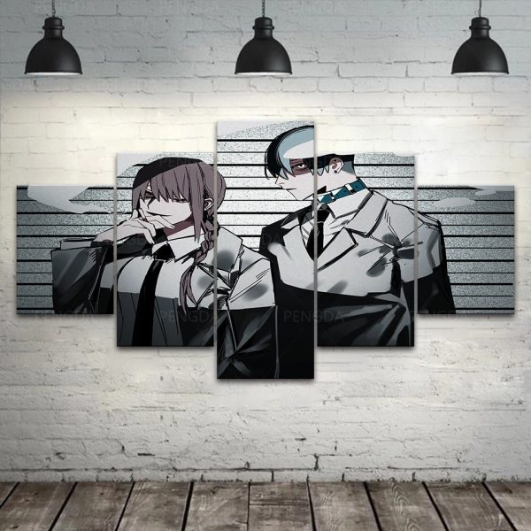 Wall Art Chainsaw Man Home Decor Japan Anime Hd Print Modular Picture Posters Modern Canvas Painting - Chainsaw Man Shop