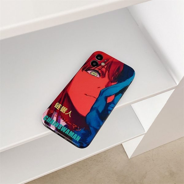Luxury Chainsaw Man Silicone Phone Case For IPhone 12 11 Pro Max XS X XR 7 3 - Chainsaw Man Shop
