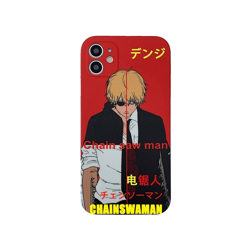 Luxury Chainsaw Man Silicone Phone Case For IPhone 12 11 Pro Max XS X XR 7 8 Plus SE2 Thin Camera Protective Soft Back Covers